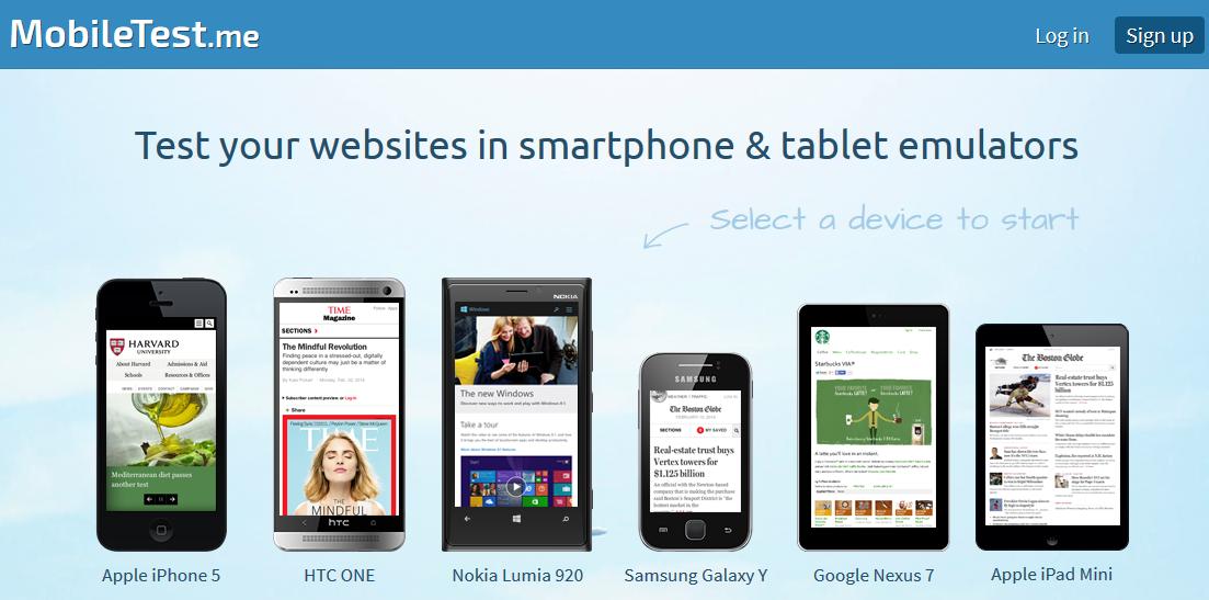 Come visualizzare un sito mobile anche dal computer for Sito mobili